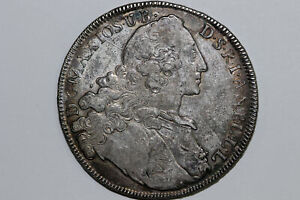 1765 Bavaria Thaler 'Madonna' Silver Coin Grades Very Fine (BARA130)