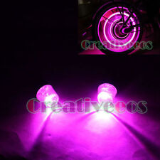 2Pcs Car Motor Wheel Tyre Tire Valve Caps Covers LED Lights Not included Battery