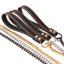 Firm Pet Collar Traction Rope Cuban Miami Link Chain Strong Gold Dog Collar