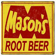 Mason's Root Beer Nostalgic Country Advertisement Sign
