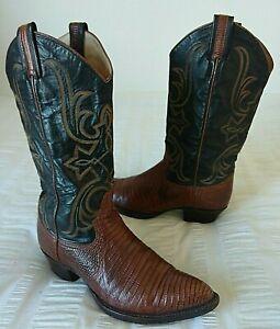 Larry Mahan El Paso Texas Ladies HANDMADE Leather Cowboy Boots UK5.5 Exc Con