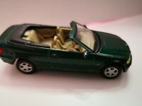 BMW Cabrio, 3er Serie, grün 1:72, Hongwell, unbespielt aus Sammlung. Ohne Box.