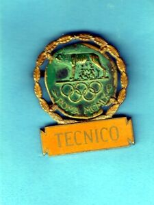 OFFICIAL BADGE OF A TECHNIC PERSON FOR ROME OLYMPIC GAMES