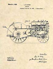 Official 1930 John Deere Tractor US Patent Art Print - Antique Vintage Farm 497