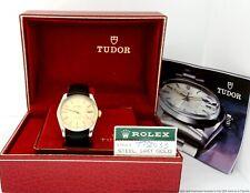 Handsome 14K Gold Rolex Tudor Prince Oyster w/ Original Box Papers amazing