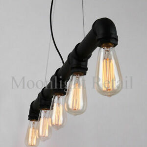 135cm Long New Industrial Steampunk Lighting Iron Pipe Edison Ceiling FREE Bulb