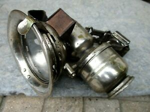 Antique Brass Headlight Carbide Search-Light Bicycle Lamp ICCA Vintage Acetylene