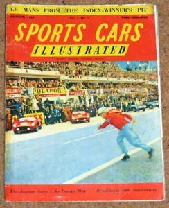 Sports Cars Illustrated Vol 1 No 1 - Le Mans 24 Hrs, The Jaguar Story,Brooklands
