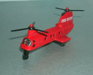 1/200 Scale Boeing CH-46 Sea Knight Fire Rescue Diecast Helicopter Suntoys 6007