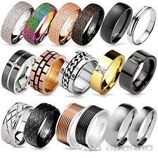 Damen Ring Herren Ring Edelstahl Ring Band Ring Partnerringe Fingerring RS56