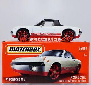 2021 Matchbox Power Grabs #74 '71 Porsche 914/6 PASTEL WHITE / MIB
