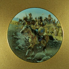 The West Of Frank McCarthy On The Old North Trail Plate Stagecoach Hamilton Rare
