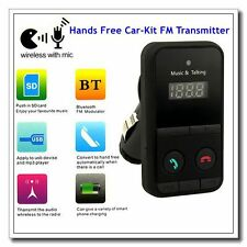 Bluetooth Car Kit Mp3 Player Mic Fm Transmitter Modulator Sd Usb Mini Lcd Remote