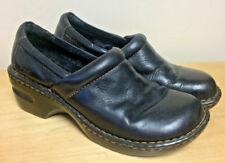 BOC BLACK Leather Clogs Women's Size US 7.5 Pro Heels Mules Shoes Casual  EXC