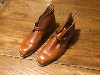 New THURMONT Shoe Co. Brown Leather Men's Chukka Boot Buckle Vintage RETRO NOS