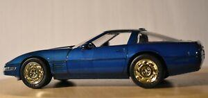 AMT/ERTL 1991 Corvette ZR-1 Promo Model - 6934 - Medium Quasar Blue 1:25