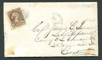 "CANADA #27 LARGE QUEEN NEW BRUNSWICK SPLIT RING TOWN CANCEL COVER ""HARVEY"""