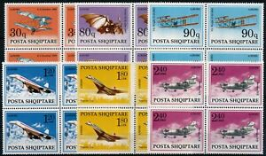 [P15324] Albania 1991 : Planes - 4x Good Set Very Fine MNH Airmail Stamps