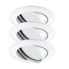 LED ALU flache Einbauleuchten Set 3x5W 230V  geringe einbautiefe schwenkbar WEIß