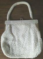 Vtg Evening Bag Paisley Metallic Fabric Clutch Gold Fashion Fun