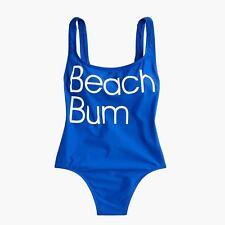 New J. Crew 8 Beach Bum Scoop Back One-Piece Swimsuit  2018 J3602 $110 Womens