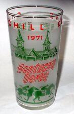 KENTUCKY DERBY GLASS - 1971 - MINT