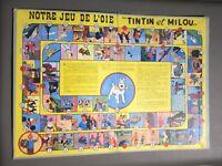 Tintin et Milou notre jeu de l'oie. Offert par Chèque Tintin sur carton bleu