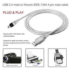 USB 2.0 Stecker auf 4 Polig IEEE 1394 Stecker Firewire Sync Kabel Adapter 1,5M