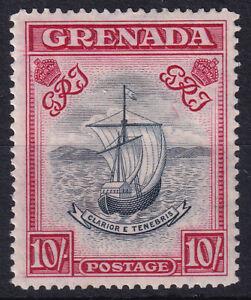 """Grenada - King George VI - 1947 10/- Perf 14 """"Wide"""" - Unmounted Mint - Clear Wmk"""