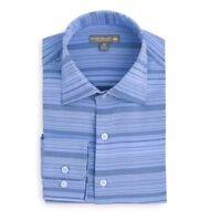 Peter Millar Crown Sport Summer Comfort Long Sleeve Shirt 2XL NWT Blue Stripe
