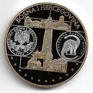 Europa-Medaille Bosnien-Herzegowina Cu-Ni vergoldet mit Silber-Auflage 40 mm, 28