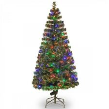 National Tree Company 6' Fiber Optic Evergreen Christmas Tree Prelit Multi light