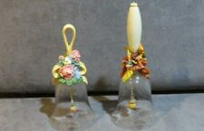 2 Avon Crystal Bells - Floral Bouquet & Harvest Bounty