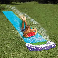 4.8m Fun Kids Inflatable Outdoor Garden Water Slide Sprinklers Splash mat