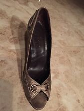 """NEW! $520 Christian Dior """"Cannage"""" Leather Logo Heels [Size 39.5]"""