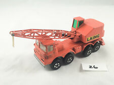 MATCHBOX LESNEY SUPERKINGS # K-12 SCAMMELL MOBILE CRANE TRUCK DIECAST LAING