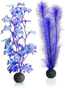 Oase Biorb Plant medium Sea Kelp SET purple Weighted plastic aquarium safe decor