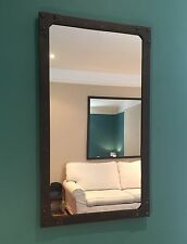 Medium Mirror, portrait/landscape, Burnt Copper colour frame, artisan product