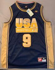 Nike Michael Jordan 1992 Olympic Team USA Dream Team Jersey, Blue & Gold