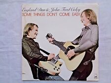 England Dan & John Ford Coley Some Things Don't Come Easy 1978 Monarch Press EX+