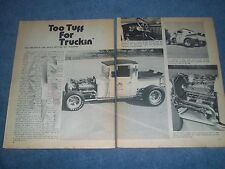 "1929 Ford Pickup Truck Vintage Hot Rod Article ""Too Tuff for Truckin' """