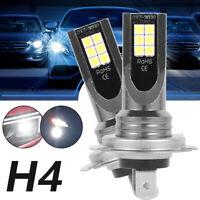 2X H4 9003 LED Ampoules phare Light Hi Lo Beam Headlamp Kit 6500K Blanc LB