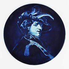 Koninklijke Goedewaagen Blauw Delfts Holland - Teller - Zelfportret Rembrandt