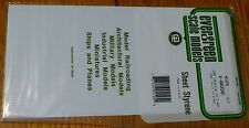 "Evergreen Styrene #4125 / 6 x 12"" Styrene Siding Sheet, V-Groove .040"" Thick --"