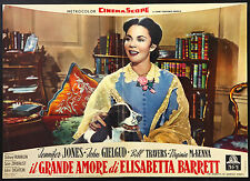 CINEMA-fotobusta IL GRANDE AMORE DI ELISABETTA BARRETT jones, gielgud, FRANKLIN