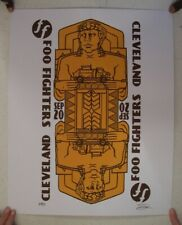 Foo Fighters Poster Silkscreen Orange Playing Card Cleveland The September 20