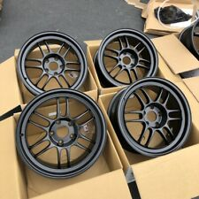17x8 +45 Enkei RPF1 5x100 Black Rims Wheels Fits Impreza Wrx