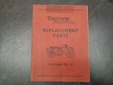 Triumph Tiger Cub Replacement Parts Catalog #6  Manual 1005