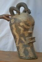 African tribal Art mask, unusual  tetela Mask  from DRC.