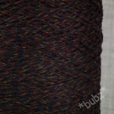 ITALIAN GEELONG EXTRAFINE PURE LAMBS WOOL 3 PLY PURPLE DARK MOULINE TWEED MERINO
